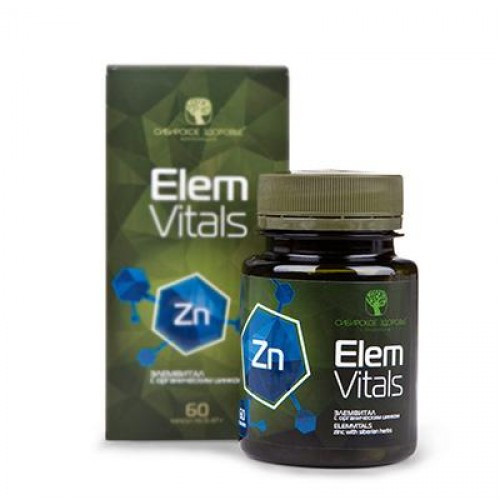 """""""Элемвитал с цинком"""" капс.60-источник природного цинка для поддержания иммунитета"""