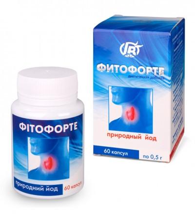 """Капсулы Фитофорте """"Природный йод"""" 60 кап.- при нарушениях функций щитовидной железы"""