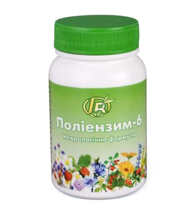 «Полиэнзим - 6», 140 г -неврологическая формула  при расстройствах сна, неврозах, ухудшении памяти