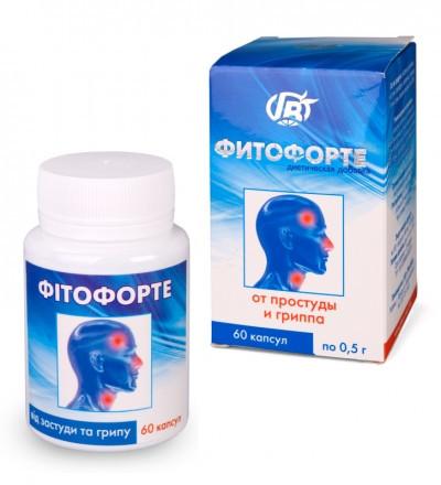 Противовирусное  Фитофорте От простуды и гриппа, 60 кап-для иммунитета ОРЗ ОРВИ грипп ангина бронхит тонзилит