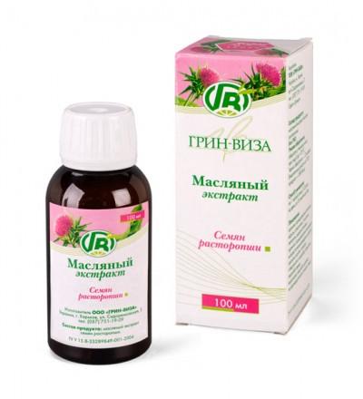 Масло Семян расторопши 100 мл- гепатопротекторного, антиоксидантного действия
