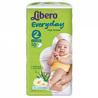 Підгузки Libero Everyday Natural Mini 2 (3-6кг) 50 шт