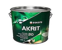 Краска  латексная ESKARO AKRIT 20 интерьерная белая-база А 2,85л