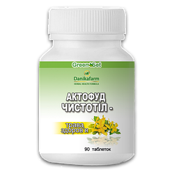 Для печени Актофуд «Чистотел -трава здоровья» таб.90- при гепатитах, безкаменных холециститах,жировом гепатозе