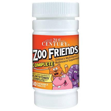 Жувальні вітаміни Zoo Friends Complete 21st Century 60 Chewable Tablets, фото 2