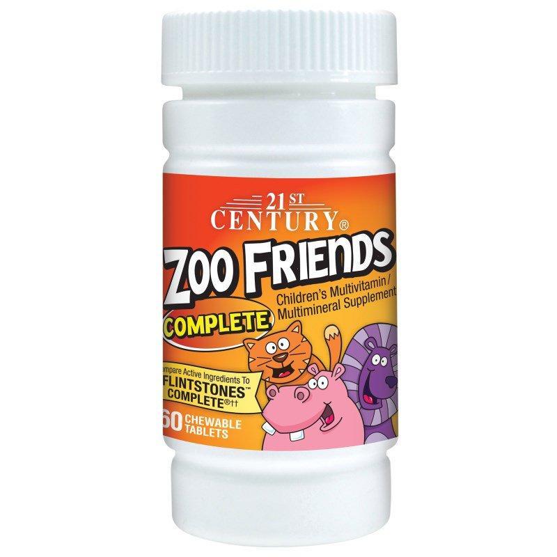 Жувальні вітаміни Zoo Friends Complete 21st Century 60 Chewable Tablets