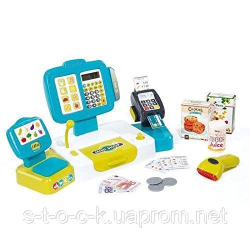 Детская электронная касса с весами и сканером Smoby 350105