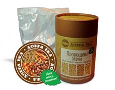 """""""Проросшие зерна овса, ячменя, пшеницы, кукурузы"""" тубус 300 г(от комп CHOICE)-витамины и микроэлементы"""