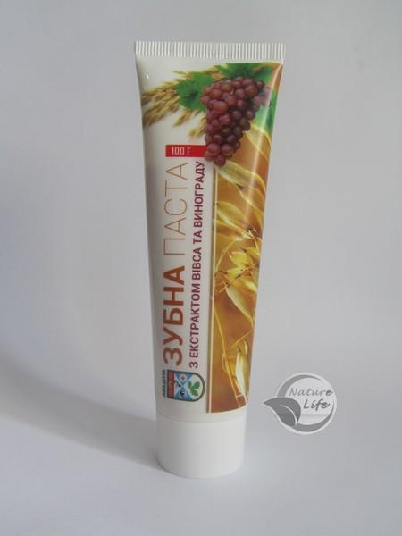 Зубна паста «З екстрактом Вівса і Винограду» 100 г - попереджає виникнення зубного нальоту