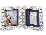 Двойная рамочка Baby Art с отпечатком , фото 1