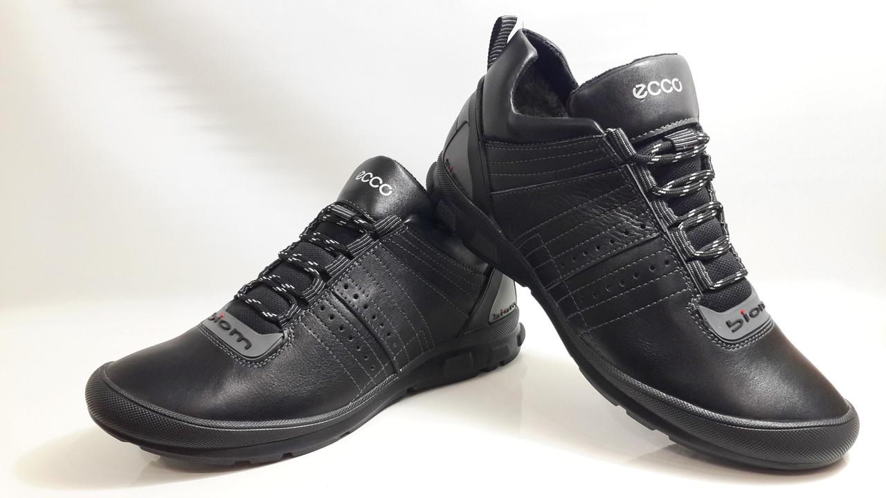 3d3a475a Кожаные мужские зимние ботинки Ecco Biom,чёрные: продажа, цена в ...