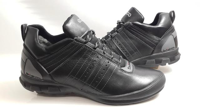Мужские кожаные зимние ботинки Ecco Biom чёрные из натуральной 100% кожи  178753d160769