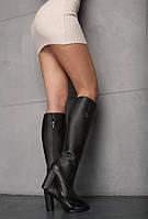 Сапоги кожаные тёмно-коричневые Y.S.