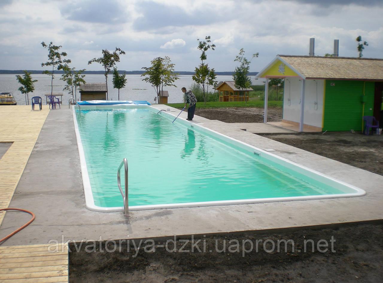 Композитний Олімпійський басейн збірний шириною 5,0 м і довжиною до 50 м, h=1,8 м