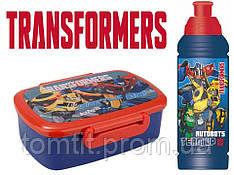 "Набор ""Transformers"". Контейнер для завтрака (ланчбокс) с приборами + бутылка"