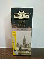 Чай Ахмад Граф Грей (Earl Grey) чёрный с ароматом бергамота 25 пакетов по 2гр