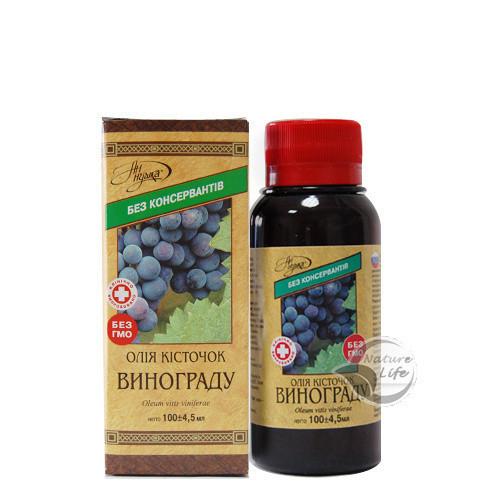 Масло из косточек винограда, 100 мл - для улучшения функционирования  почек