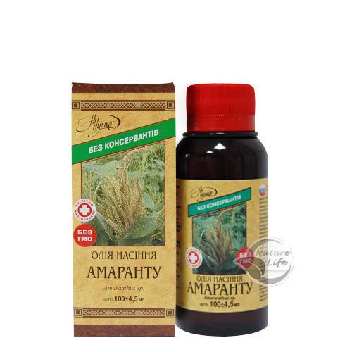 Масло семян Амаранта, 100 мл- для регенерации слизистой оболочки желудка, кишечника