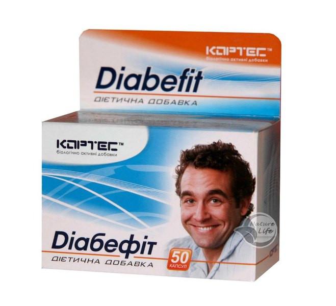 Нормализует уровень сахара в крови Диабефит капс.50