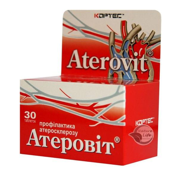 """Выводит холестерин, укрепляет сосуды """"Атеровит""""  таб.30"""
