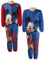 Пижама комбинезон на флисе для мальчика 98/ 128 см