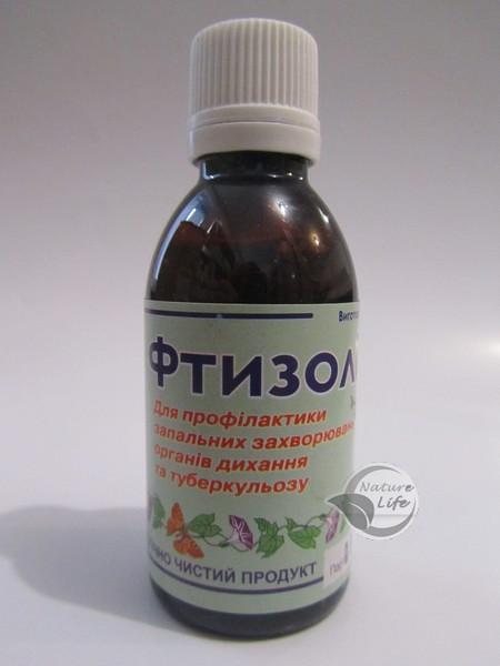 """Настоянка """"Фтизолина"""" 50 мл - при запальних захворюваннях легень і верхніх дихальних шляхів, туберкульозі"""