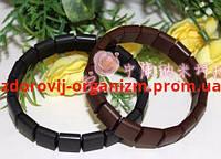 Турмалиновый браслет квадрат Вековой Восток (турманиевый браслет)
