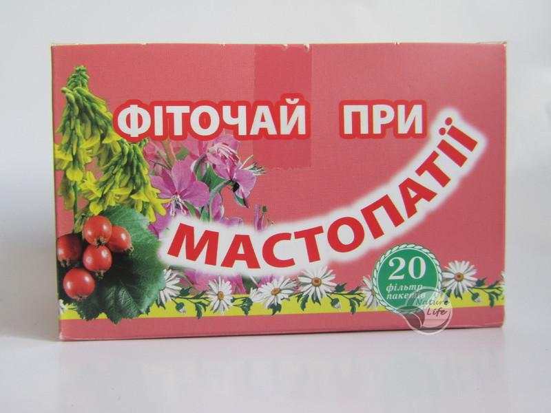 Фиточай «При Мастопатии» 20 шт по 1.5 г-способствует рассасыванию уплотнений в молочных железах