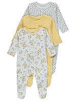 """Человечки для новорожденных слипы набор для детей """"Солнышко"""", размер 44 см, набор 3 шт"""