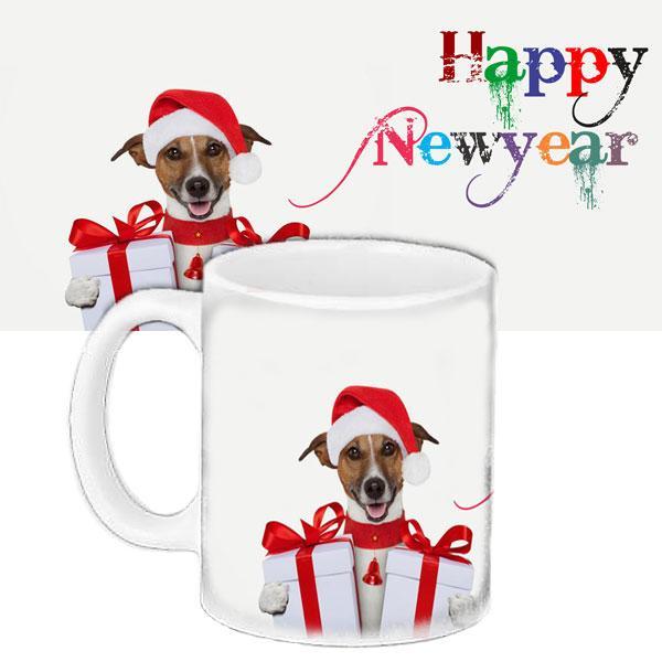 Кружка подарунок з принтом Новий рік