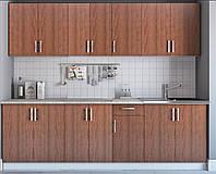 Кухня эконом с фасадами орех