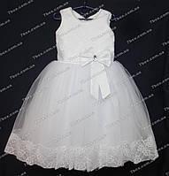 Детское платье бальное Золушка-1 (белое) Возраст 5-6лет., фото 1