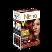 Безамиачная крем-краска для волос Nisha Медно-Красная №5.64 с маслом авокадо