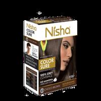 Безамиачная крем-краска для волос Nisha Коричневая №4 с маслом авокадо