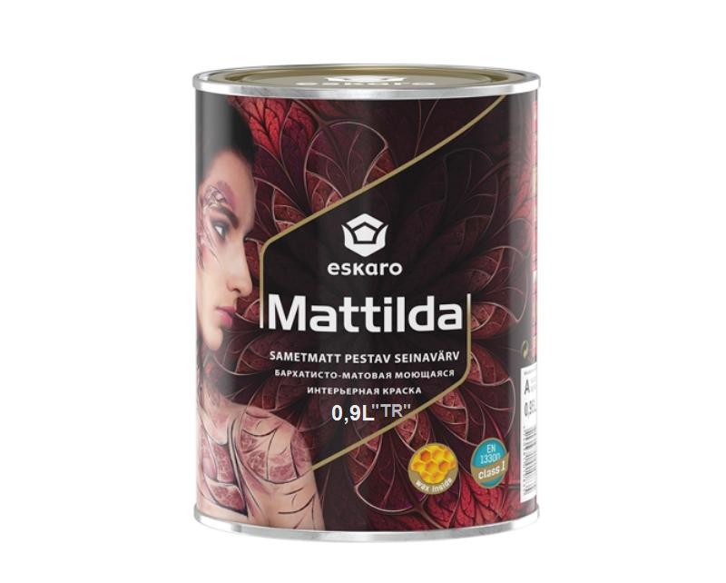 Краска с воском ESKARO MATTILDA интерьерная транспарентная-база TR 0,9 л
