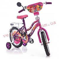 Детский двухколесный велосипед 12 дюймов Винкс WINX Азимут