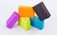 Блок для йоги  (EVA 75гр, р-р 23 x 15,5 x 7,5см, цвета в ассортименте)