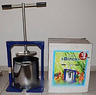 Ручной пресс для отжима сока виллен (15 литров) di
