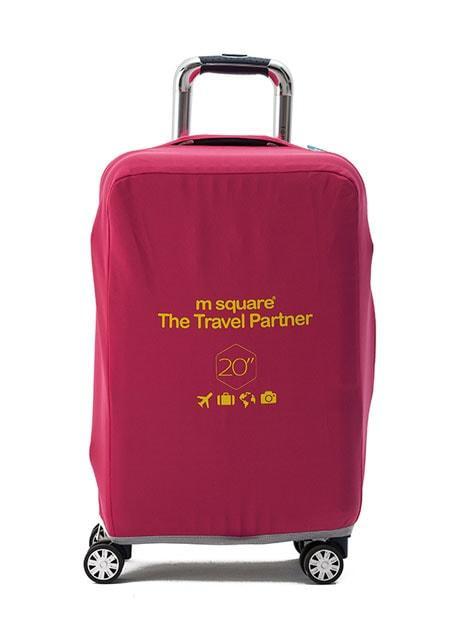 Чехол на чемодан S розовый