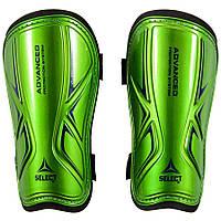 Щитки футбольные Select Standard, зеленые, р-р L