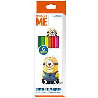 Карандаши цветные толстые трехгранные Despicable Me © Universal Studios 118912, 6 цветов