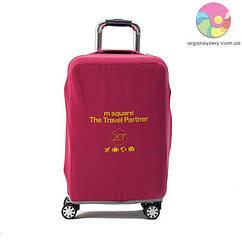 Чехол на чемодан (S) (розовый)