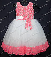 Детское платье бальное Золушка-1 (коралл) Возраст 5-6лет., фото 1