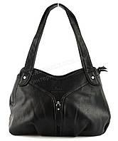 Стильная прочная вместительная женская сумка KENGURU art. 16557 черный