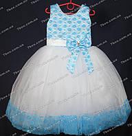 Детское платье бальное Золушка-1 (голубое) Возраст 5-6лет., фото 1