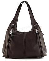 Стильная прочная вместительная женская сумка KENGURU art. 16561 коричневая