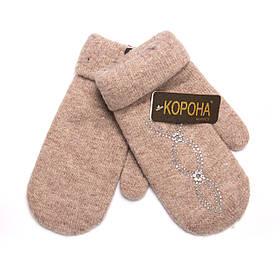"Варежки Женские ""КОРОНА"" Стразы (Арт. LKF6058)   12 пар"