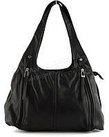 Стильная прочная вместительная женская сумка KENGURU art. 16561 черная