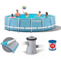 Каркасный бассейн Intex 28702 круглый , Prism Frame Pool ,305х76 см