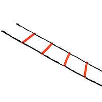 Координационная лестница SELECT Agillity ladder - indoor, оранж/черн, 6 м.